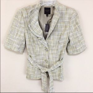 NWT New The Limited Tweed Blazer Short Sleeve